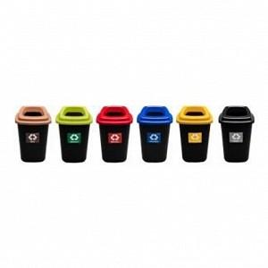 KOŠ za ločene odpadke 28L RJAV + pokrov